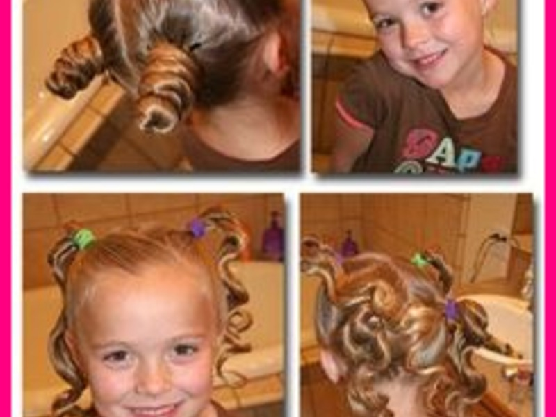 Cute easy hairstyle for people of different ages