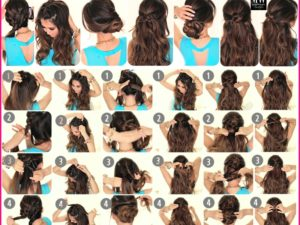 Easy hairstyles for wavy hair for school